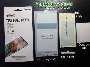 Dán màn hình Note 10 Plus - Vmax mới (dẻo trong)